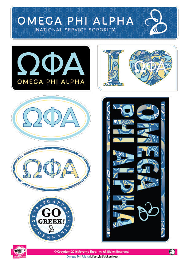 Omega Phi Alpha <br> Lifestyle Stickers