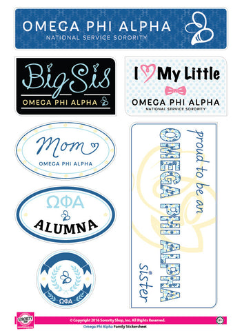 Omega Phi Alpha <br>Family Stickers