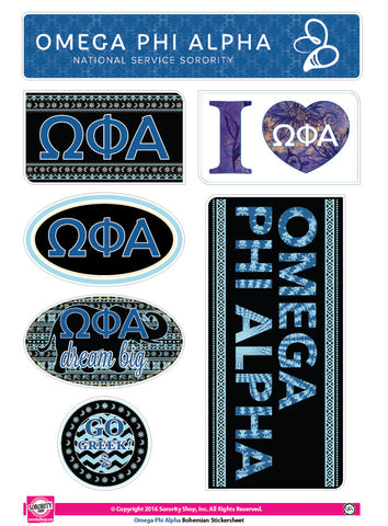 Omega Phi Alpha <br>Bohemian Stickers
