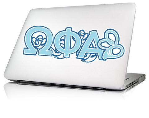 Omega Phi Alpha <br>11.25 x 4 Laptop Skin/Wall Decal