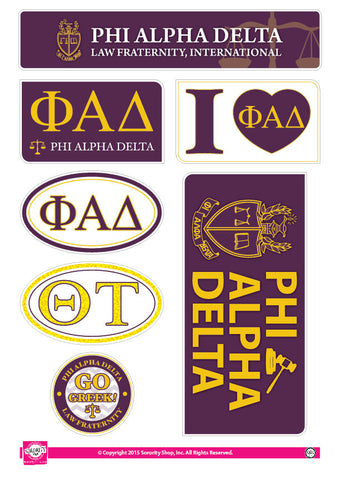 Phi Alpha Delta <br> Lifestyle Stickers