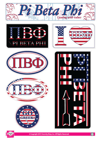 Pi Beta Phi <br> American Stickers