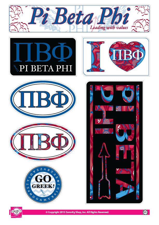 Pi Beta Phi <br> Lifestyle Stickers