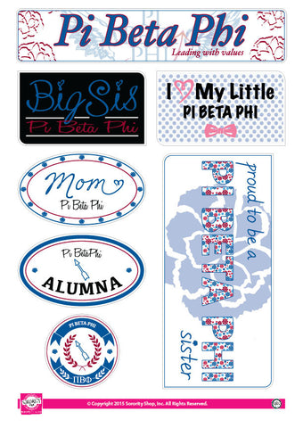 Pi Beta Phi <br> Family Stickers