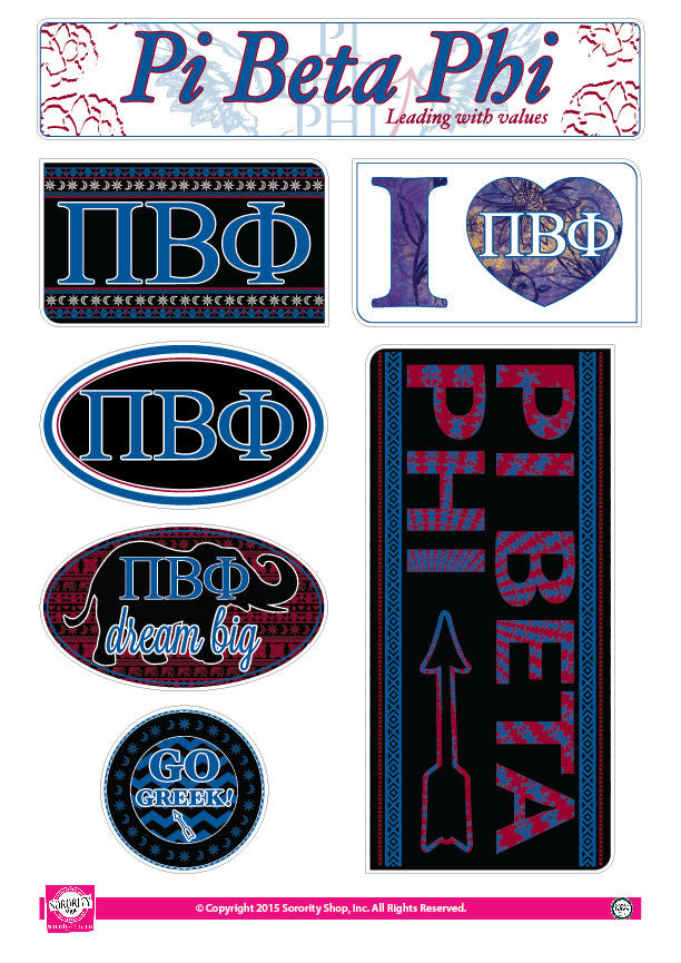 Pi Beta Phi <br> Bohemian Stickers