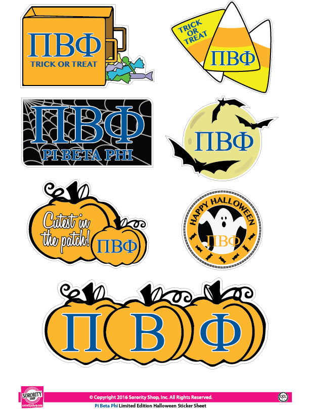 Pi Beta Phi <br> Halloween Stickers