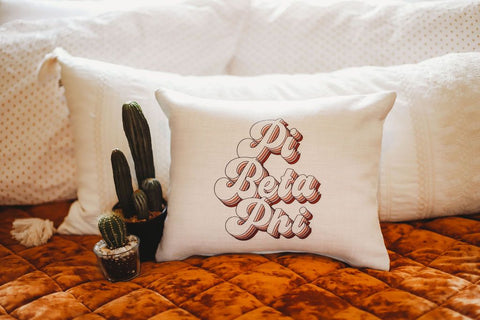 Pi Beta Phi Retro Pillow