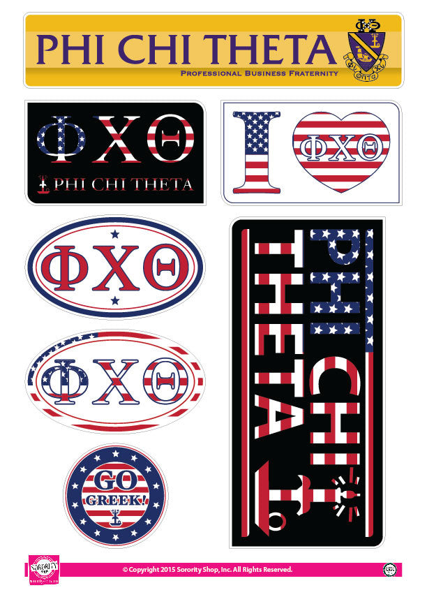 Phi Chi Theta  <br> American Stickers