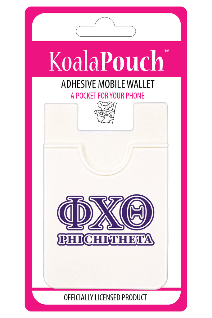 Phi Chi Theta<br> Koala Pouch<br>Adhesive wallet for your phone