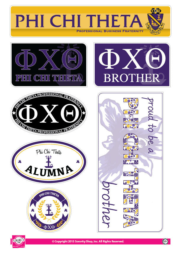 Phi Chi Theta <br> Family Stickers