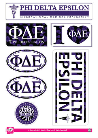 Phi Delta Epsilon <br> Animal Print Stickers