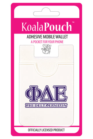Phi Delta Epsilon<br> Koala Pouch<br>Adhesive wallet for your phone