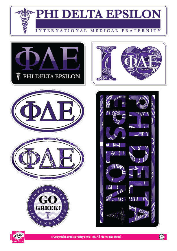 Phi Delta Epsilon <br> Lifestyle Stickers