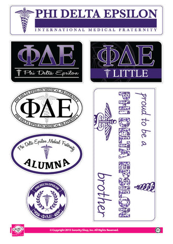 Phi Delta Epsilon <br> Family Stickers