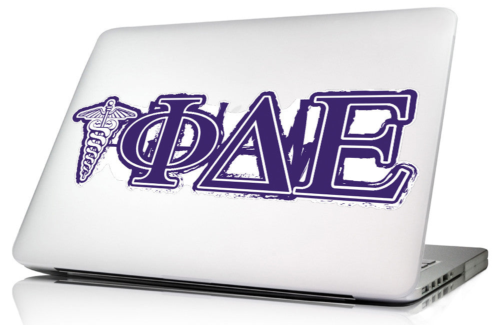 Phi Delta Epsilon <br>11.75 x 4 Laptop Skin/Wall Decal
