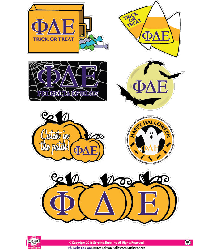 Phi Delta Epsilon <br> Halloween Stickers
