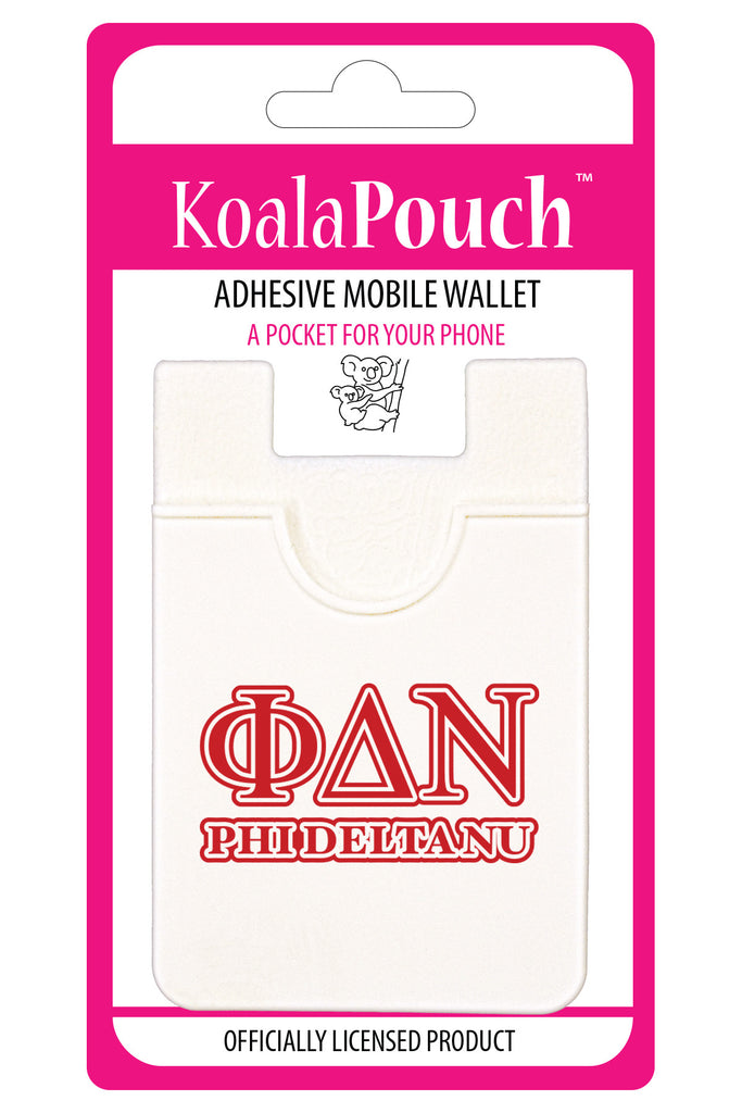 Phi Delta Nu <br> Koala Pouch<br>Adhesive wallet for your phone