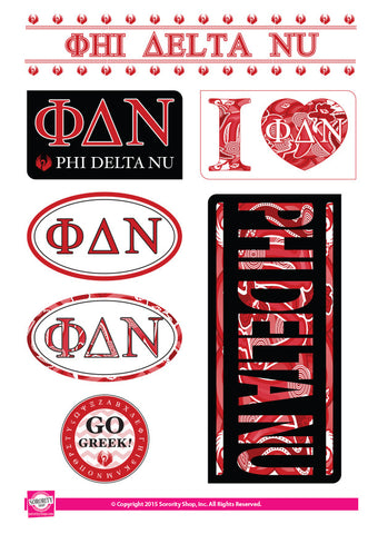 Phi Delta Nu <br> Lifestyle Stickers