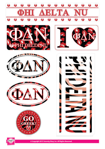 Phi Delta Nu <br> Animal Print Stickers