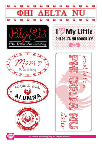 Phi Delta Nu <br> Family Stickers