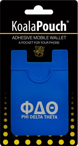 Phi Delta Theta <br> Koala Pouch<br>Adhesive wallet for your phone