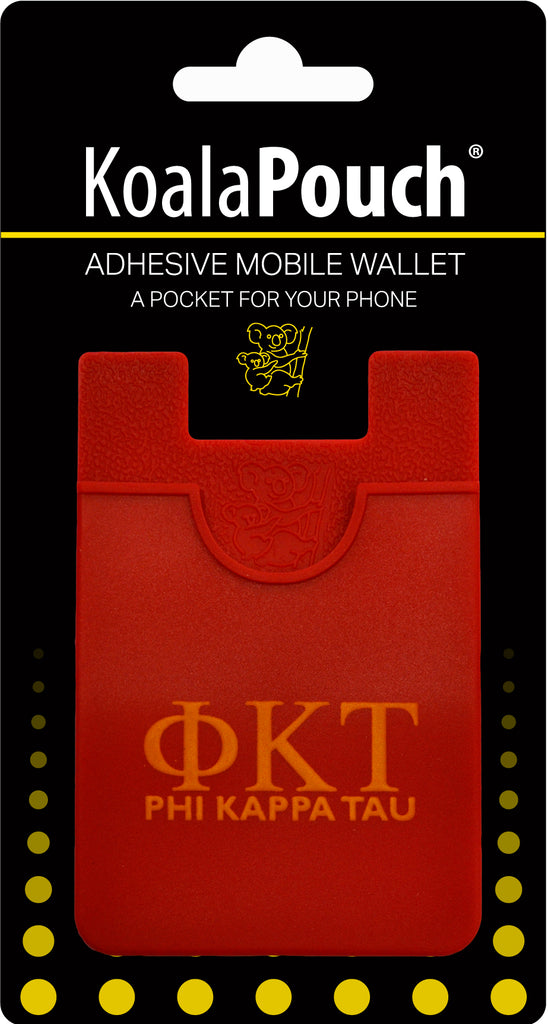Phi Kappa Tau <br> Koala Pouch<br>Adhesive wallet for your phone
