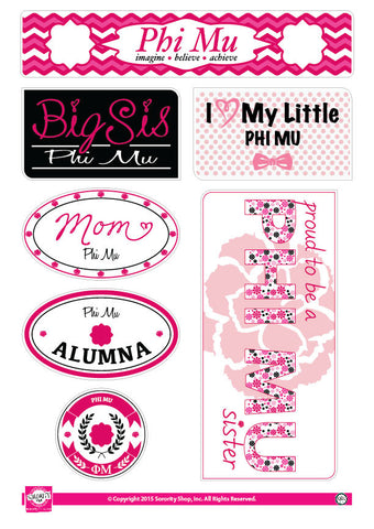 Phi Mu <br> Family Stickers