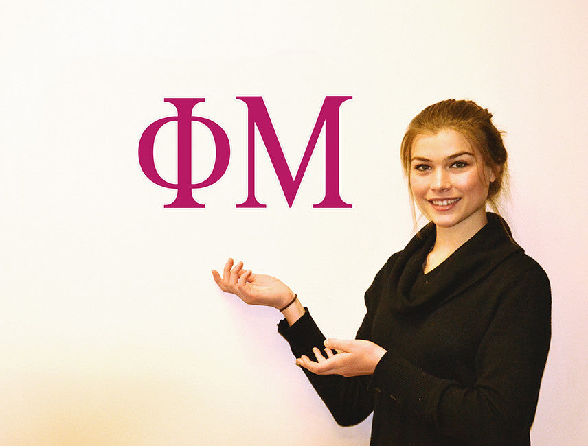 Phi Mu <br> Jumbo Letter Decals