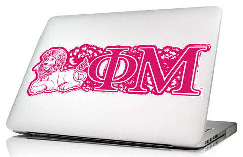 Phi Mu <br>11.75 x 4.5 Laptop Skin/Wall Decal