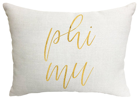 Phi Mu Throw Pillow