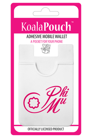 Phi Mu<br> Koala Pouch<br>Adhesive wallet for your phone