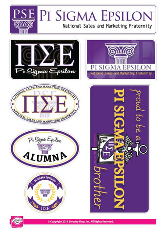 Pi Sigma Epsilon<br> Family Stickers