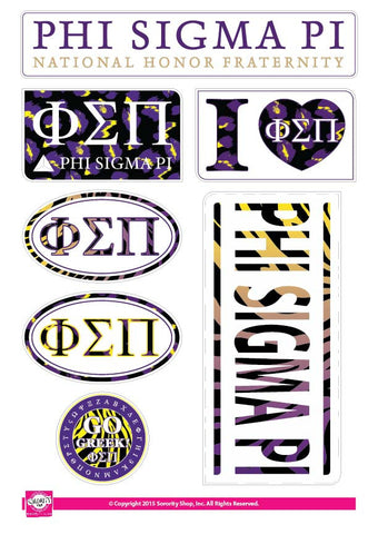 Phi Sigma Pi <br> Animal Stickers
