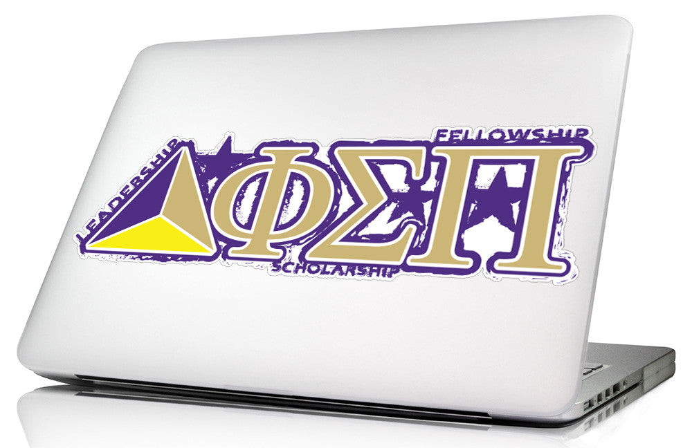 Phi Sigma Pi <br>11.75 x 3.75 Laptop Skin/Wall Decal