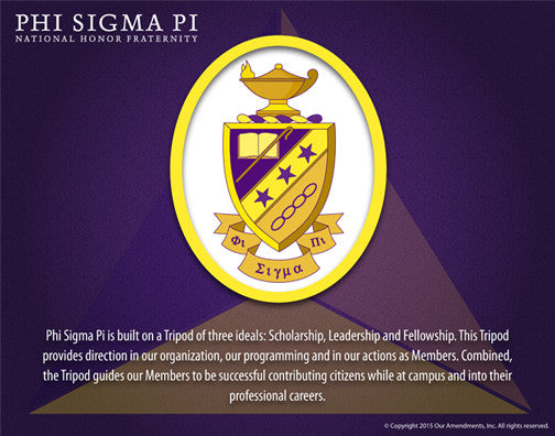 Phi Sigma Pi<br> Tribute Poster