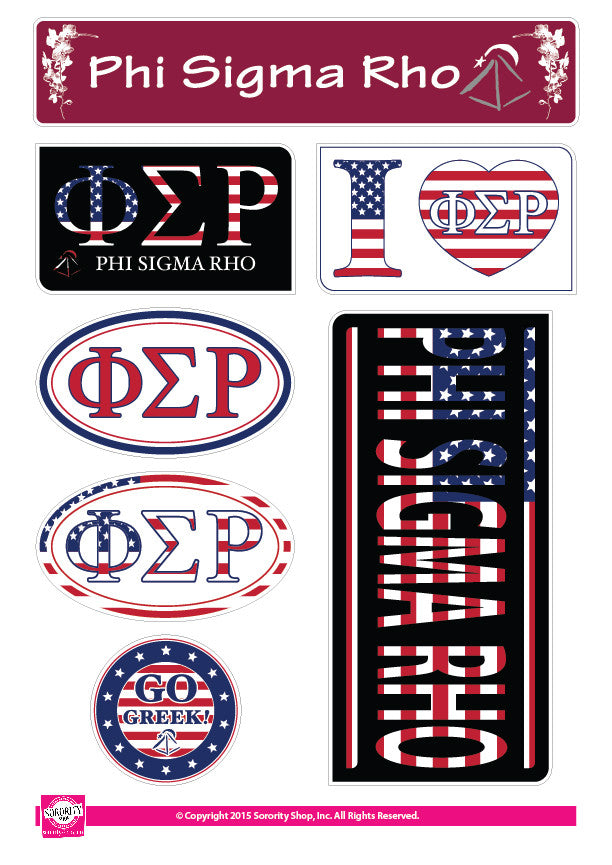 Phi Sigma Rho <br> American Stickers