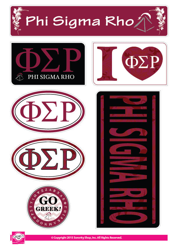 Phi Sigma Rho <br> Lifestyle Stickers