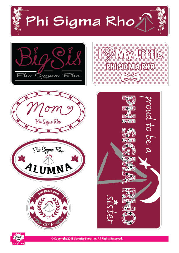 Phi Sigma Rho <br>Family Stickers