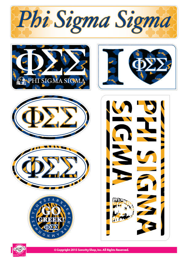 Phi Sigma Sigma <br> Animal Print Stickers
