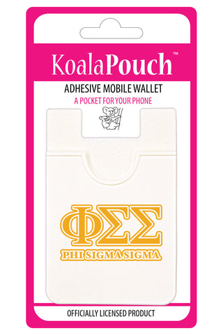 Phi Sigma Sigma<br> Koala Pouch<br>Adhesive wallet for your phone