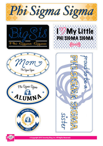 Phi Sigma Sigma <br> Family Stickers