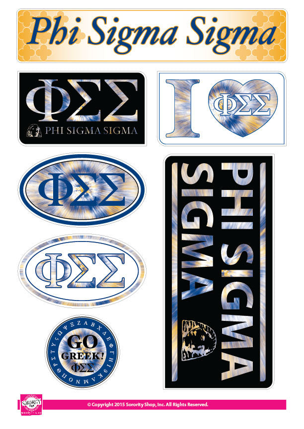 Phi Sigma Sigma <br> Tie Dye Stickers