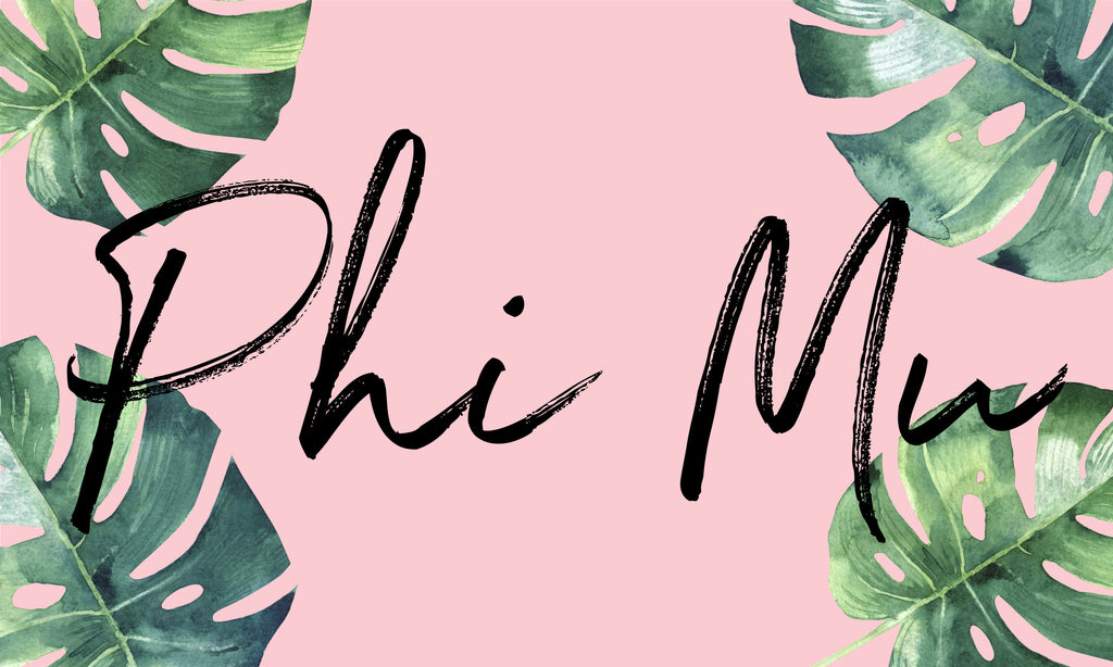 Phi Mu Sorority Flag