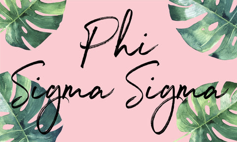 Phi Sigma Sigma Sorority Flag