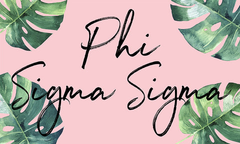 Phi Sigma Sigma Tropical Flag