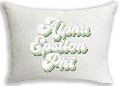 Alpha Epsilon Phi Retro Throw Pillow