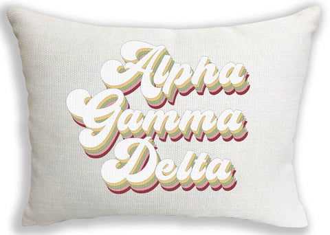 Alpha Gamma Delta Retro Throw Pillow