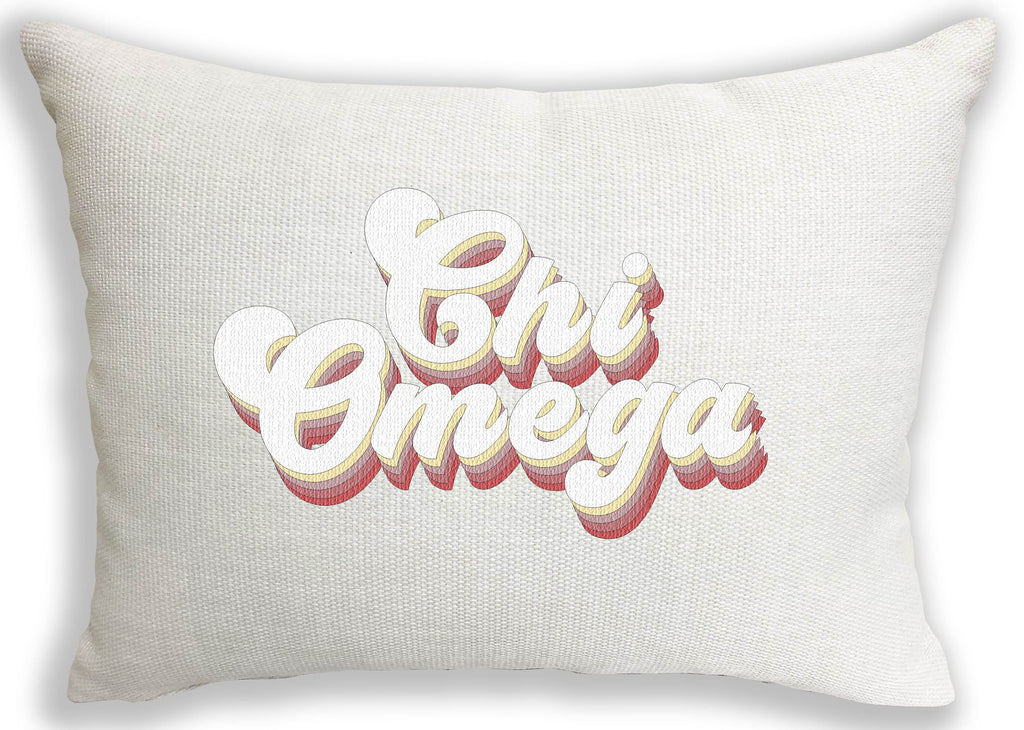 Chi Omega Retro Throw Pillow