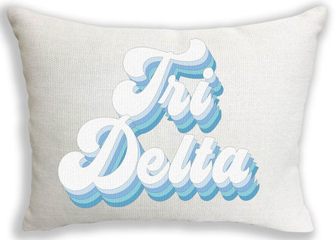 Delta Delta Delta Retro Throw Pillow