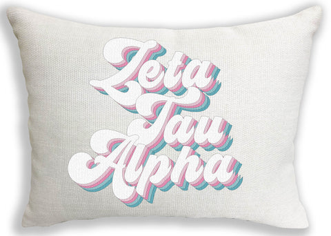 Zeta Tau Alpha Retro Throw Pillow